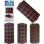Forma de Silicone para Chocolate com Cavidades Sortidas 21x10 5cm