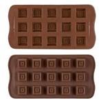 Forma de Silicone para Chocolates 15 Cavidades Quadradinhos