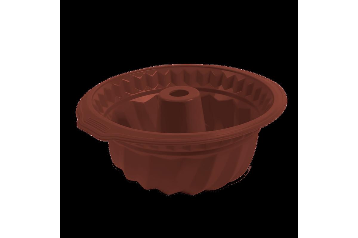 Forma para Bolo Glacê 27 X 24 X 10,5 Cm Chocolate Brinox