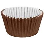 Forminha Cupcake Impermeável Colors Marrom com 45 Unidades - Regina Festas