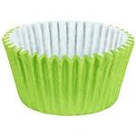 Forminha Cupcake Impermeável Colors Verde Limão - 45 Unidades - Regina Festas