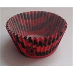 Forminha de Cupcake Rubro Negro - 45 Unidades