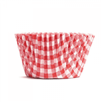 Forminha de Cupcake Xadrez Vermelho - 45 Unidades