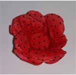 Forminha Decorativa Vermelha Poá Preto