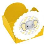 Forminhas para Doces Amarela Elefantinho - 10 Unds