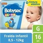 Fralda Babysec Galinha Pintadinha Ultra G 16 Unidades