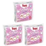Fralda de Pano Básica Estampa Menina - Topz Baby Kit C/ 3 Pacotes