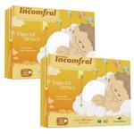 Fralda de Pano Bebê Kit 10 Peças Antialérgico 100% Algodão Especial Tecido Duplo Incomfral