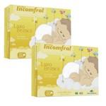 Fralda de Pano Bebê Kit 10 Peças Antialérgico 100% Algodão Luxo Tecido Duplo Incomfral