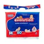 Fralda Dry Evolution Tamanho M Pacote Super com 80 Fraldas Descartáveis