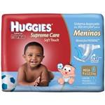 Fralda Huggies Supreme Care Soft Touch Mega Masculina Tamanho G com 32 Unidades