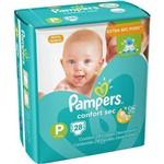 Fralda Infantil Pampers Confort Pacotão P Pc