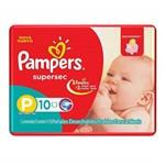 Fralda Infantil Pampers Supersec com 10 Pacotinho P