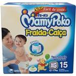 Fralda Mamypoko Fralda-Calça XG 15 Unidades