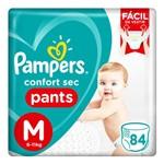 Fralda Pampers Confort Sec Pants M 84 Unidades