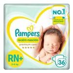 Fralda Pampers Recém-nascido Premium Care Mega Rn+ 36 Unidades