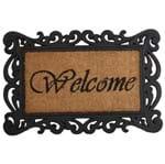 Frame Welcome Capacho 60 Cm X 40 Cm Castanho/preto