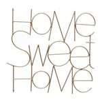 Frase Decorativa Cobre Home Sweet Home Urban
