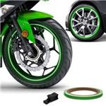 Friso de Roda Refletivo 7mm com Aplicador Adesivo Verde 3m