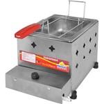 Fritadeira Inox à Gás 5 Litros com 1 Cesto Pr-10g Progás