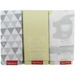 Fronha Fisher Price Neutro Amarelo Kit com 3 Unidades
