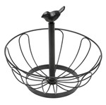 Fruteira de Mesa Bronze 25cm Pássaro 6912 Lyor
