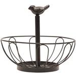 Fruteira de Mesa em Ferro com Detalhe Pássaro Vintage