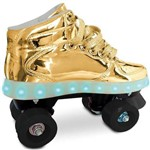 Fun Patins C/ Led 4 Rodas Dourado 37/38