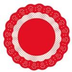 Fundo Decorado Vermelho Renda No9 C/100 - Cromus