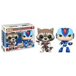 Funko Pop : Marvel Vs Capcom: Infinite - Rocket Vs Mega Man X 2-pack