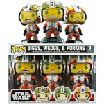 Funko Pop Star Wars Biggs, Wedge e Porkins