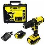 "Furadeira Parafusadeira à Bateria 1/2"" Stanley SCD20C2K - 20V SCD20C2K-B2 - 220V"