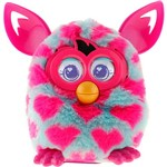 Furby Boom Sweet Azul Claro com Corações Rosa - Hasbro