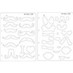 Gabarito Marcação Mustache e Laço Ab 230x310mm Gm036