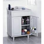 Gabinete de PVC com Lavatorio Gab Fit Gab2 50x63x92cm Bco Astra