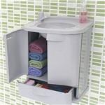 Gabinete P/ Banheiro Astra Gab Fit Pvc 2 Portas + Gavetão - Astra