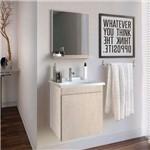 Gabinete para Banheiro com Espelheira e Tampo Gaam Slin 41,0Cm Rovere