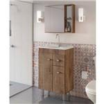 Gabinete para Banheiro com Pés Espelheira e Tampo Gaam Celta 56,6Cm Wengue