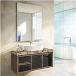 Gabinete para Banheiro Suspenso com Espelheira Tampo de Granito e Cuba Gaam Savana Glass 103,5cm - a