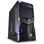 Gabinete Vx Gaming Aquila Preto com Detalhes em Azul