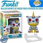 Gabumon Digimon Funko Pop #431 + Suporte de Parede