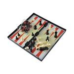 Gamão Xadrez e Damas Jogo 3 em 1 Tabuleiro Estojo Magnético