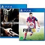 Game Mortal Kombat X + FIFA 15 - PS4