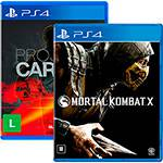 Game Mortal Kombat X + Project Cars - PS4