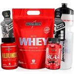 Kit de Suplementos Whey 900g + Bcaa 90 Capsulas + Albumina 120 Tabletes