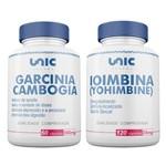 Garcinia Cambogia 500mg 60 Caps + Ioimbina (yohimbine) 5mg 120 Caps Unicpharma