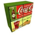 Gaveteiro de Mesa Coca Cola Vintage Verde Gaveteiro de Mesa Coca Cola Madeira Vintage Verde