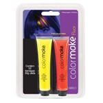 Gel Fluorescente para Cabelo Amarelo e Vermelho - Color Make