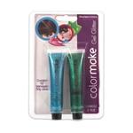 Gel Glitter para Cabelo e Pele Azul e Verde - Color Make