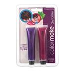 Gel Glitter para Cabelo e Pele Rosa e Roxo - Color Make